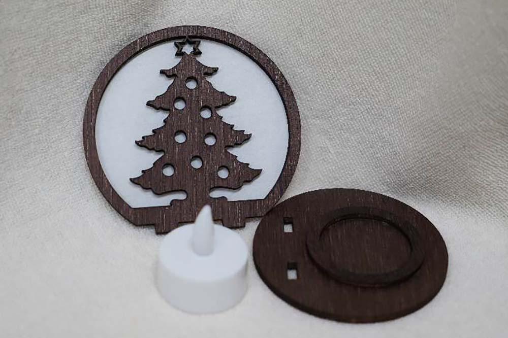 木製クリスマスランプ