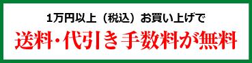1万円以上(税込)お買上げで送料・代引き手数料が無料