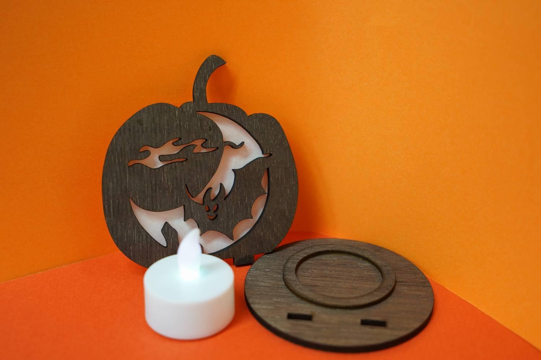 木製ハロウィン