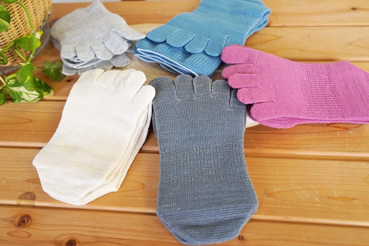 大法紡績 五本指靴下 絹木綿