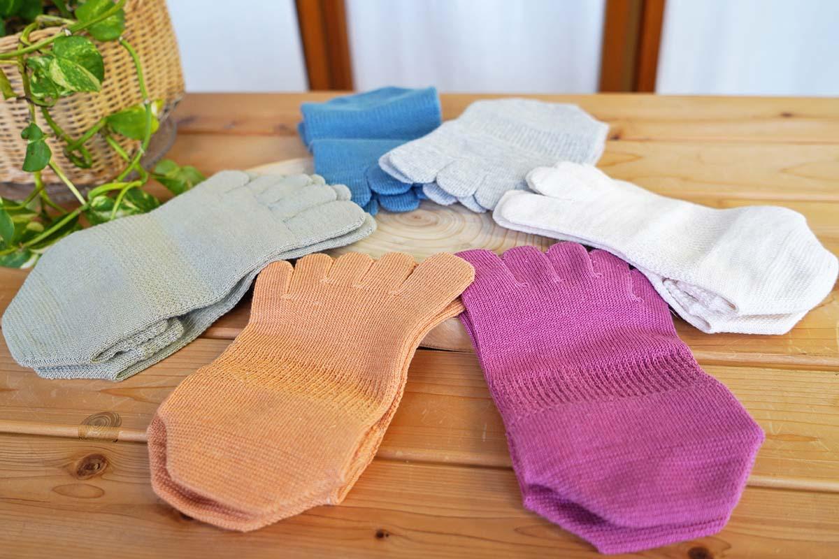 大法紡績 五本指靴下 絹木綿 スニーカー用